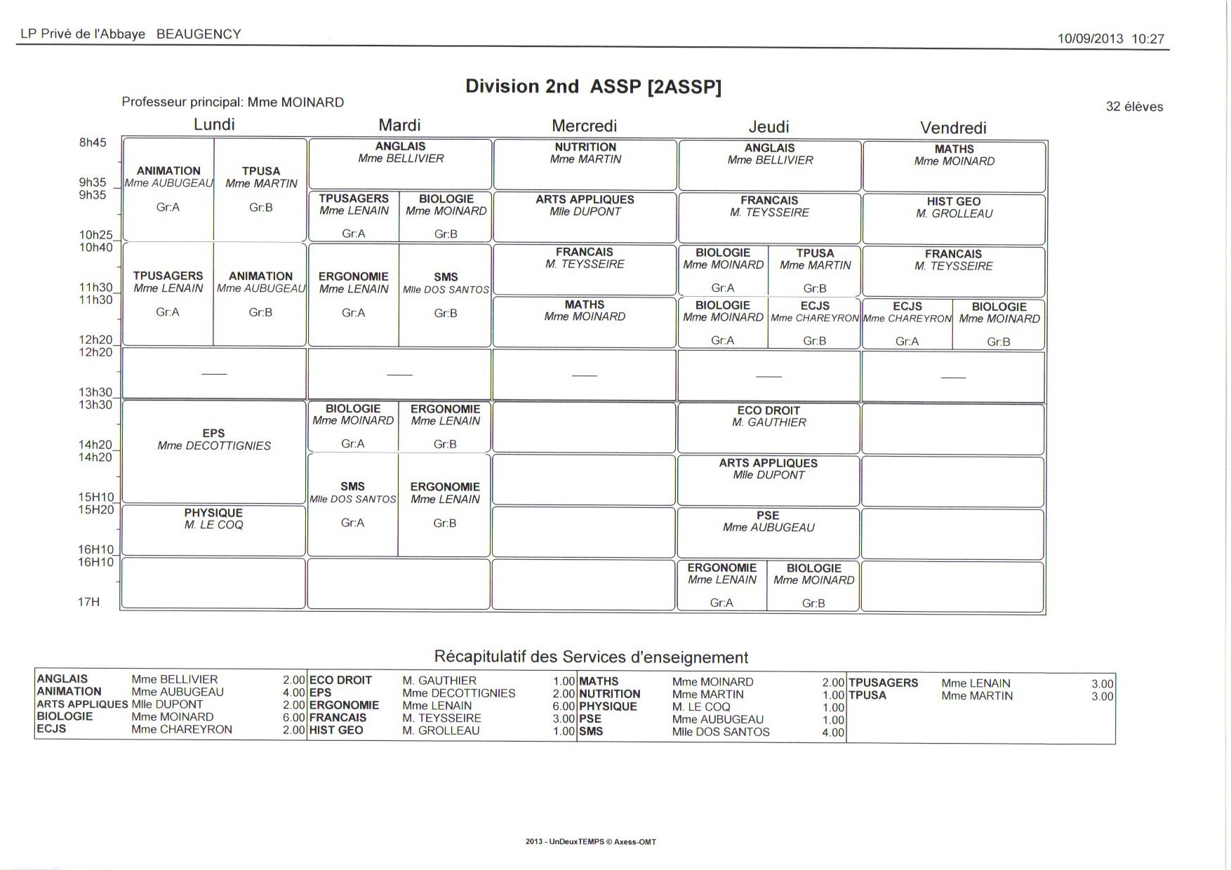 EDT - 2nde ASSP