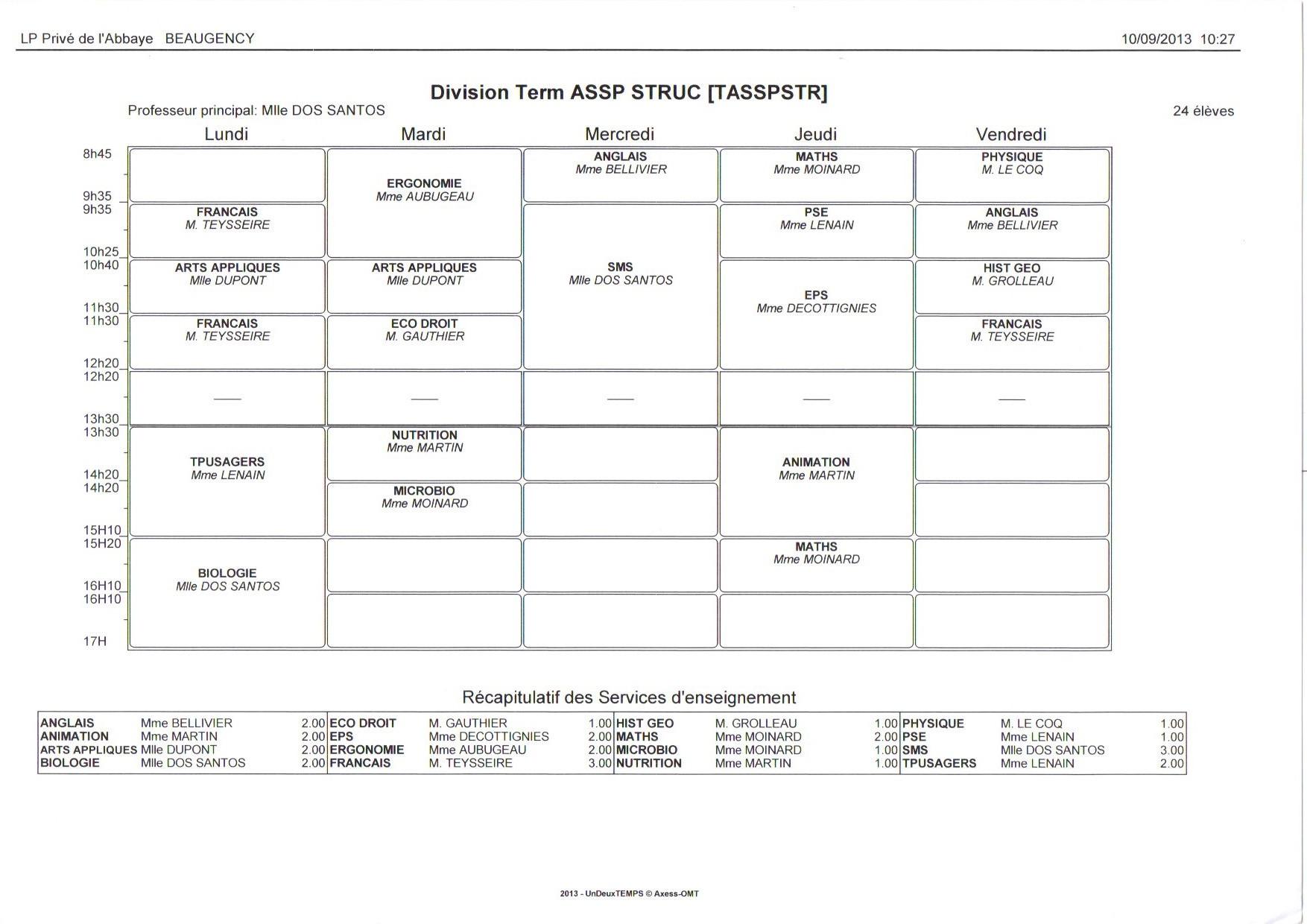 EDT - Terminale ASSP STRUCTURE
