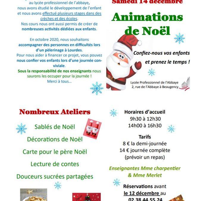 Samedi 14 décembre : Animations de Noël ouvertes à tous !